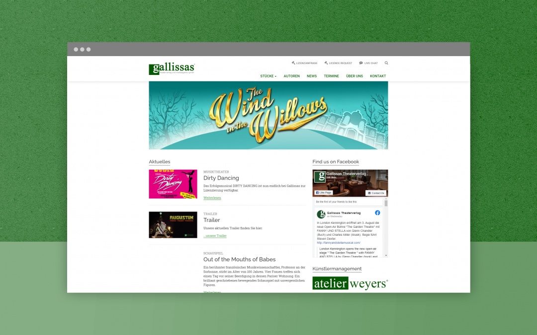 Gallissas Website: Drupal Webdesign aus Berlin
