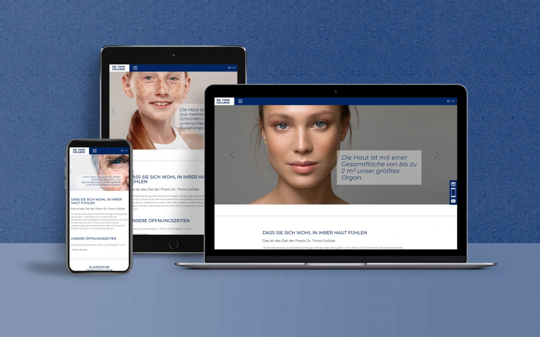 Website Screenshots: Drupal Website Dr. Golueke im responsive Webdesign