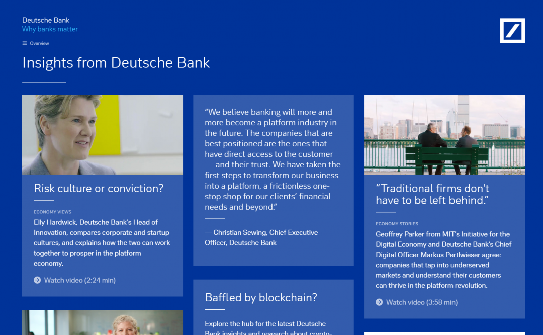 Why Banks Matter Screenshots Webdesign Berlin